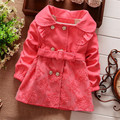2016 Children s trench coat jacket female spring and autumn children baby girl clothing overcoats with
