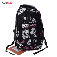AbleMe New Floral Printing Children Backpack For Girls Mochila Children School Bags For Teenager Girls Book Bags Kids Schoolbag(China (Mainland))