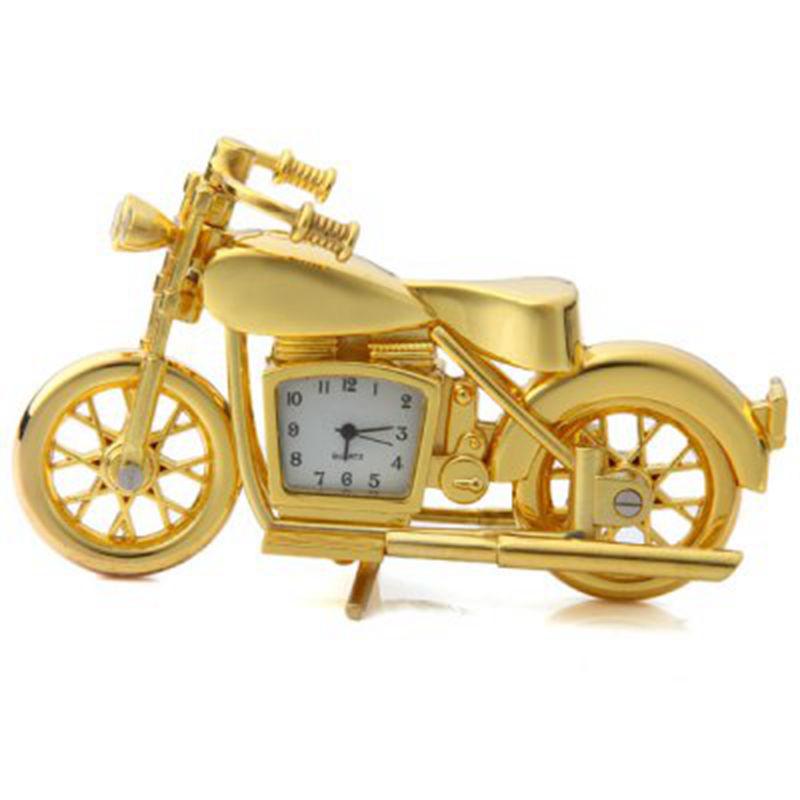 2016 Новый Мотоцикл Дизайн Кварцевые Часы Будильник Хранитель Времени Часы Настольные, дети Будильник relogio masculino