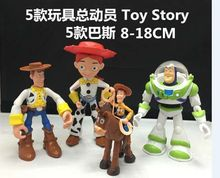 Toy Story 5pcs/set Woody Buzz Lightyear Action Figure 1/8 scale painted figure Jessie Dolls PVC ACGN figure Toys Anime 8-18CM