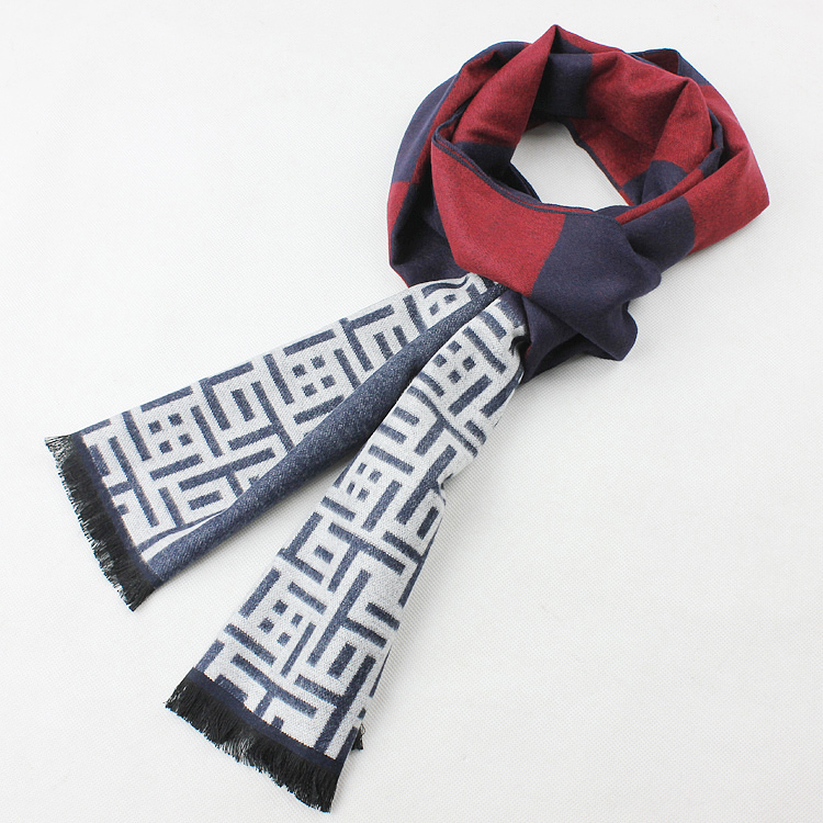 Winter Scarf men scarf thickening cashmere muffler tassel cashmere thermal commercial(China (Mainland))
