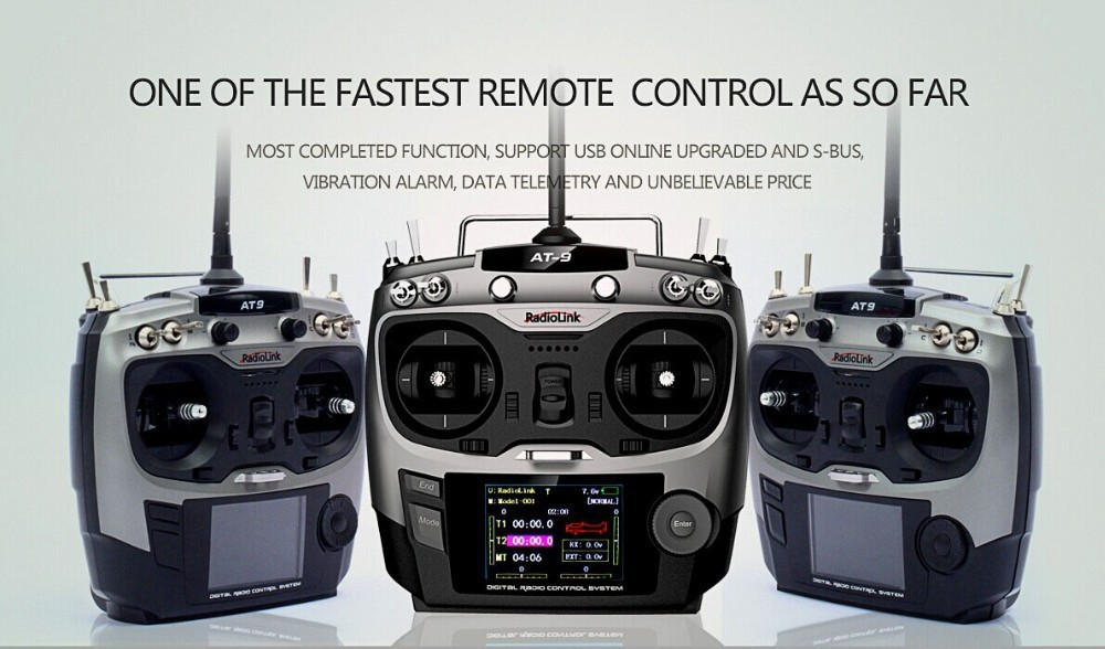 RC helicopters Remote Control Radiolink AT9 2.4GHz RC 9ch Transmitter Fastest remote control Radio & Receiver Free shipping(China (Mainland))