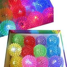 Light Up Spikey High Bouncing Balls Kids Flashing Ball Toys Novelty Sensory Hedgehog Ball(China (Mainland))