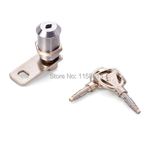 10 pieces 27mm pyramid key zinc alloy cam lock cylinder slot machine lock(China (Mainland))
