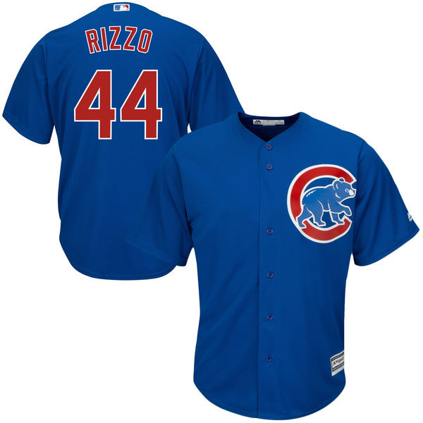 Anthony Rizzo Chicago Cubs MLB Cool Base Player Jersey Cubs Jersey - Royal Throwback Baseball Jerseys(China (Mainland))