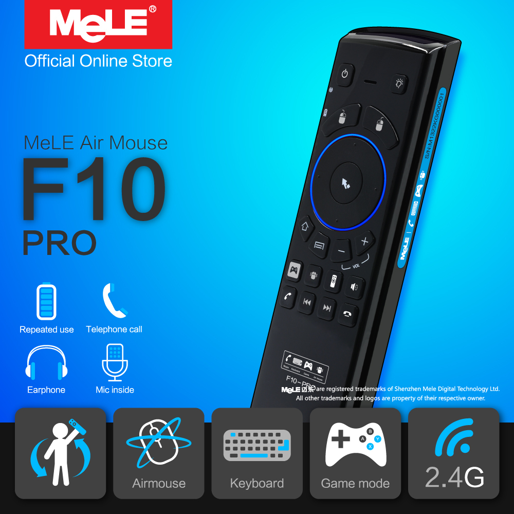 Fly Air Mouse Wireless Remote Control QWERTY Keyboard MeLE F10 Pro 2.4GHz Gyro Earphone Microphone Speaker for Android TV Box PC(China (Mainland))