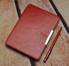 FM luxury leather cover case for amazon kindle paperwhite cover 2015 6'' kindle paperwhite case +screen protector+stylus(China (Mainland))