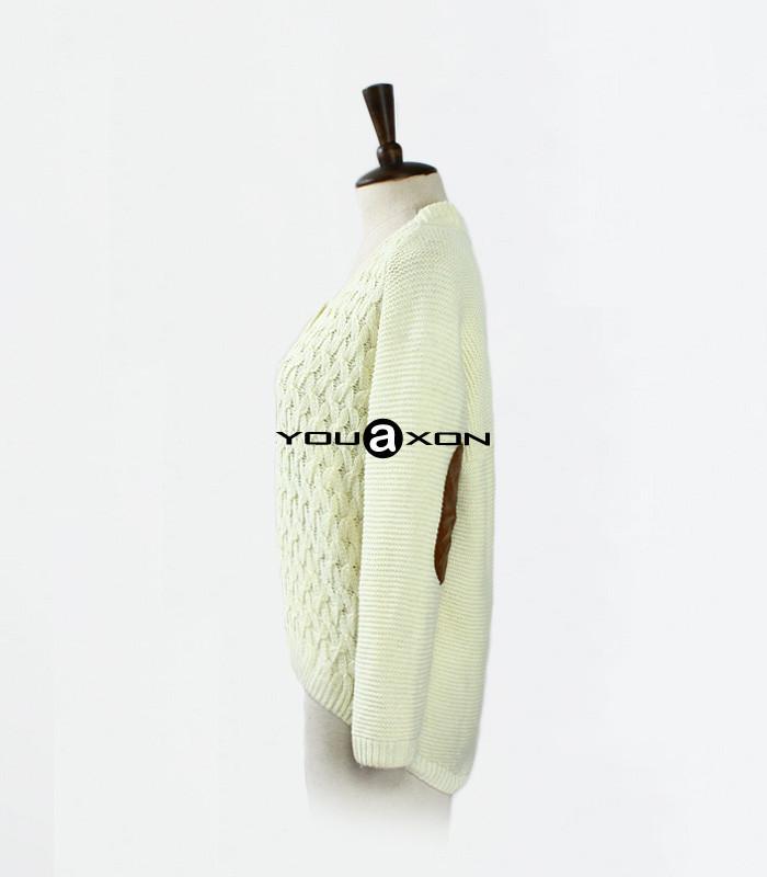 1409 YouAxon свободный Большой размер осень зима свободного покроя трикотажные длинный рукав куртки асимметричный свитер женщин + Tricotado кардиганы