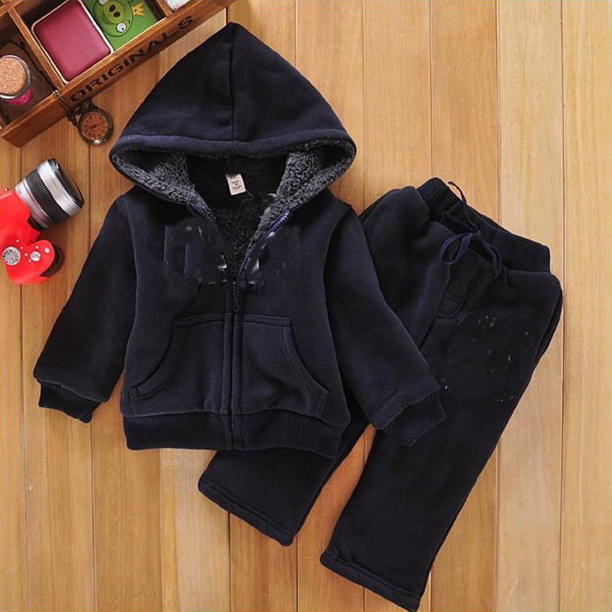 Boy clothing set Winter 2015 kid clothes long Sleeve top + pant Navy blue cotton high lovely casual vetement ropa bebe kleidung(China (Mainland))