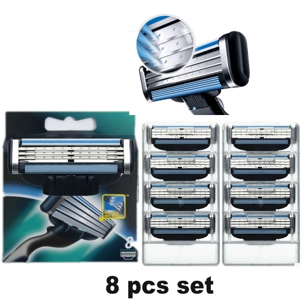 Free Shipping Men Razor Blades For Shaving Blade To Razor Shavers 8 Pcs lot High Quality