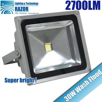 DHL Free for shipping 30W IP65 AC85-265V 2700LM High Power Waterproof LED Wash Flood Light  Outdoor Lamp