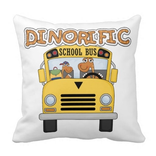 """Simple Modern Pillow Cushions Dinorific School Bus T Shirts And Gifts Throw Pillow Case (Size: 20"""" by 20"""") Free Shipping(China (Mainland))"""