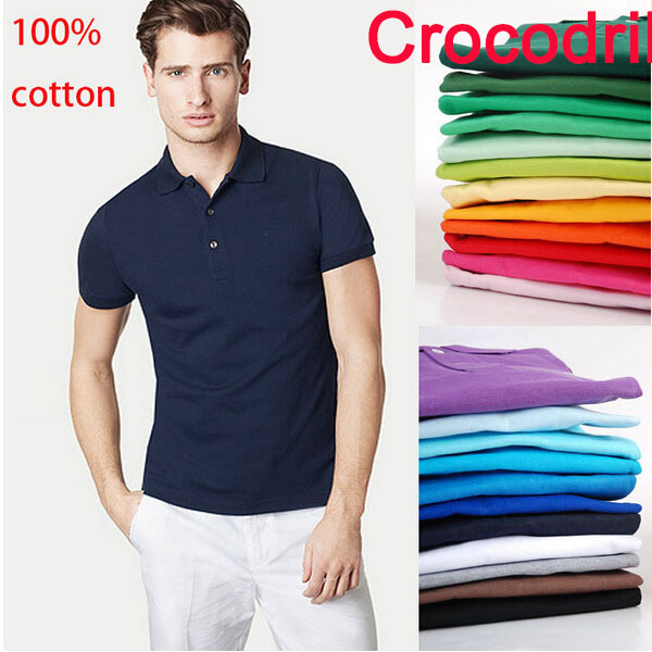 Polo crocodian logo France brand solid camisa polo shirt masculina polos hombre homme men classic plus size S-XXXL(China (Mainland))