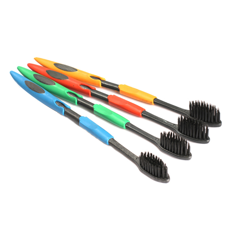 2014 Hot Sell 4PCS Double Ultra Soft Toothbrush Bamboo Charcoal Nano Brush Oral Care ST1