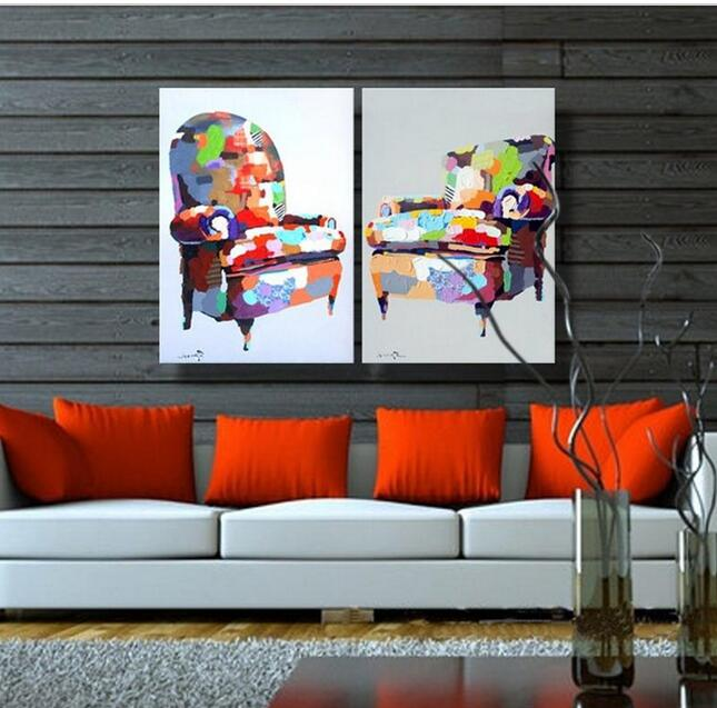 Hotselling Modern Group Abstract Heavy Texture Colorful Sofa Oil Painting on Canvas for Decoration(China (Mainland))