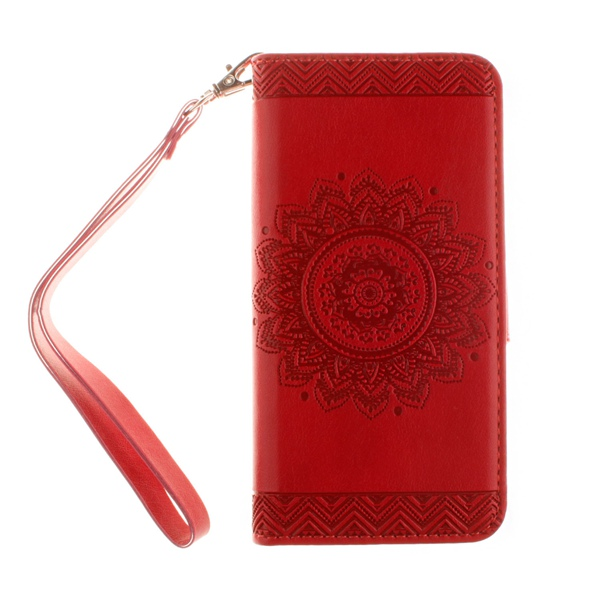Hot Selling Phone Bag For Apple iPhone 7 7S Embossing Flowers PU Leather Case Vintage Wallet Flip Cover With Kickstand Case