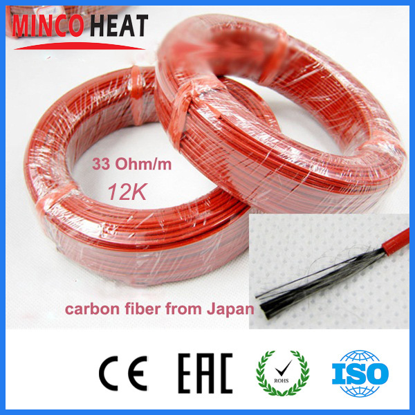 Teflon Carbon Fiber Heating Cable System 2.3Mm 12K 33Ohm Floor Electric Wire Hotline