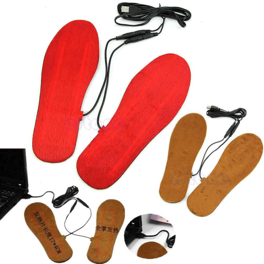 Гаджет  Hot Selling USB Insoles Electric Heated Men/Women For Shoes Boots Keep Feet Warm None Обувь
