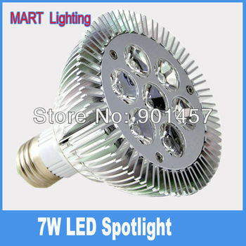 7W Par30  E27 LED Spotlights bulb  750lm high power energy savin spot lamp