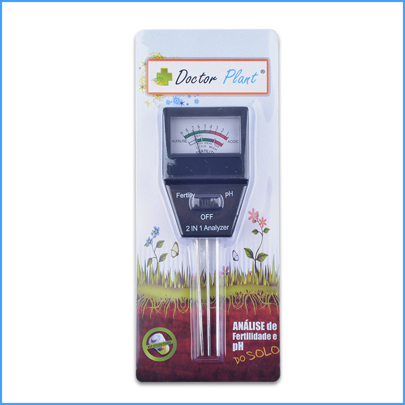 2015 new Gardening tools 2 in 1 Soil PH meter& FERTILITY tester with 3 Probes Ideal instrument for gardening free shipping(China (Mainland))