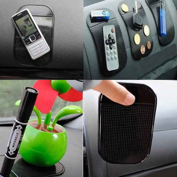 Free shipping hot sale 4PCs Black Magic Sticky Pad Anti Slip Mat Car Dashboard for Cell