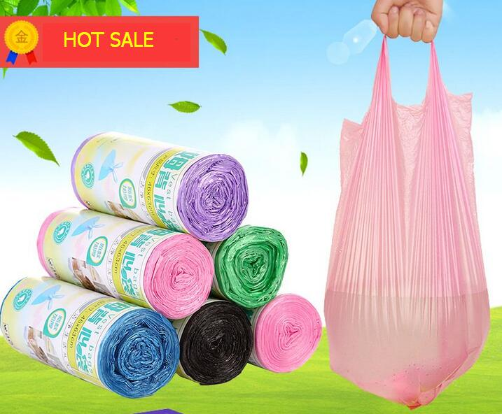 46*63cm(30 pieces)5rolls/set High Quality Thicken Kitchen Disposable Vest Design Garbage Bags Environmental Cleaning Refuse Bag(China (Mainland))