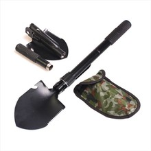 Folding Multifunctional Shovel Outdoor Camping Shovel Mini Survival Trowel Tools with Snow Spade Pick Saw Car Tool kit(China (Mainland))