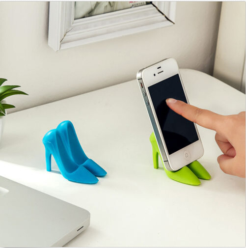 New Creative Creative High-heeled Shoes Shape Phone Stand Holder For Mobile iPhone Samsung For Android Phone 5 Color Size(China (Mainland))