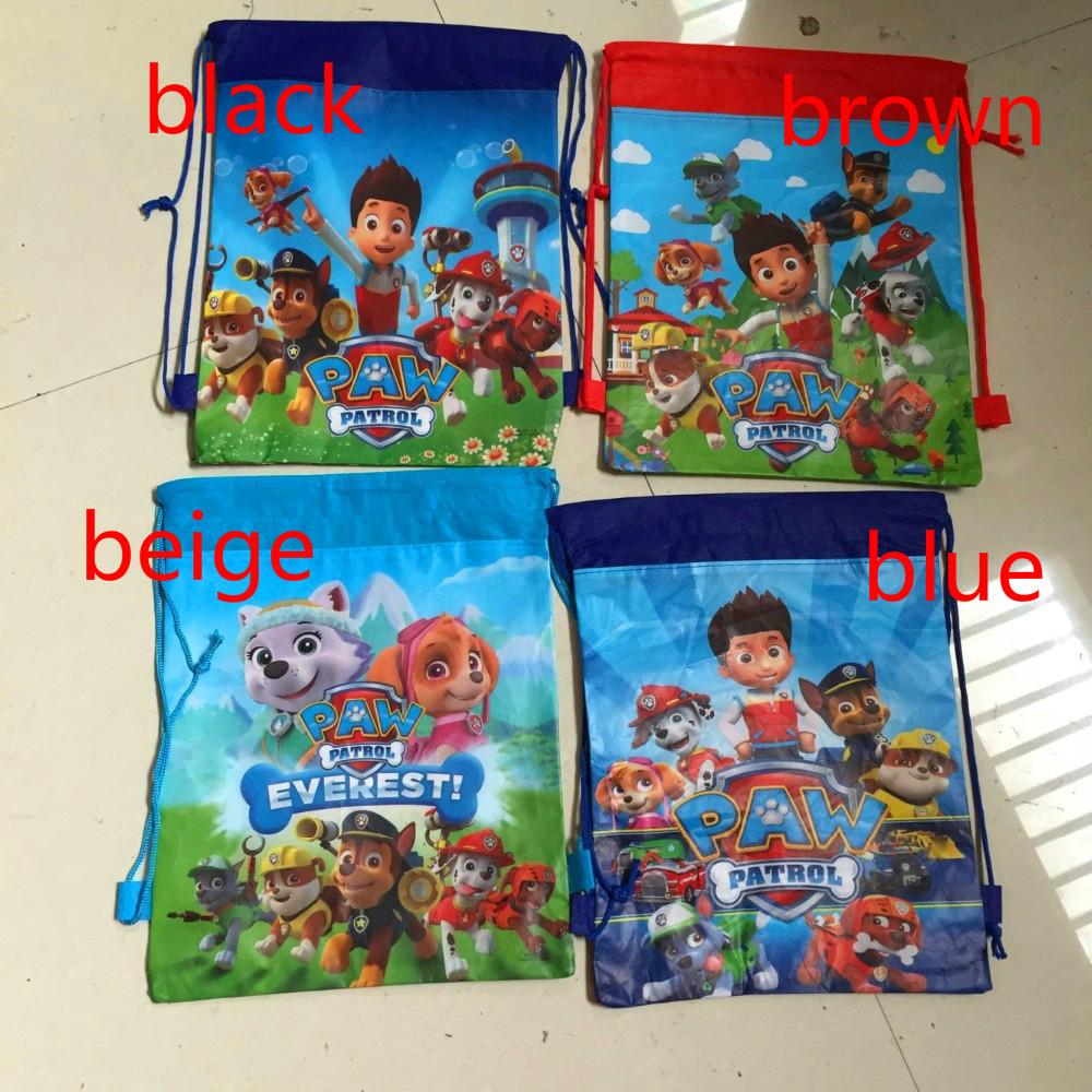 1pcs dog cartoon patrol non-woven fabrics drawstring backpack,event party gift loot bag(China (Mainland))