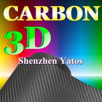Gray 3D Carbon Fiber Foil Adhesive  Wrap Sheet 1.52*30M