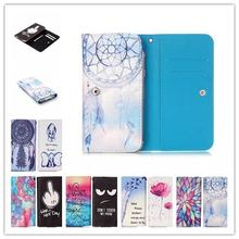 Phone cases Cartoon Flower PU Leather slot wallet pouch case skin cover Bag Card Wallet ZTE Blade V7 Lite - I la phone store