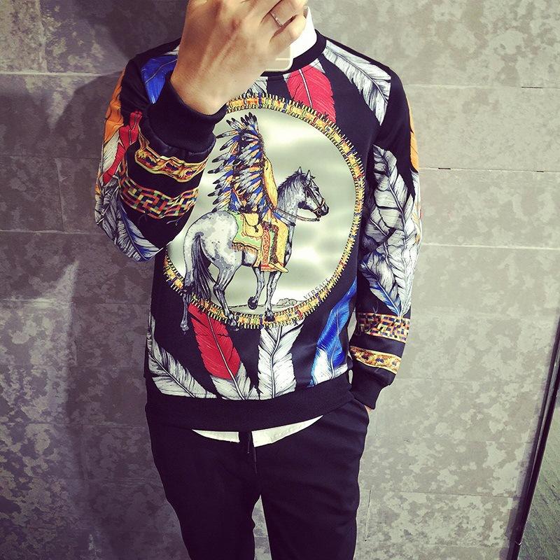 2015 New Autumn Plus Size 5XL 3D Printed Sweatshirt Men Sport Cotton Men Hoodies Casual Name Brand Men Hoodies(China (Mainland))