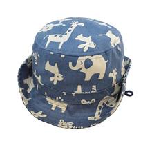 Newest kids cap children boy girl casual summer bucket hats outdoor plaid field canvas beach sun hat XL226