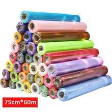 75cm Wide * 60m Long Crystal Organza 18 Colors for Choose Tulle Roll Fabric Drapes For Wedding Birthday Party Decoration(China (Mainland))