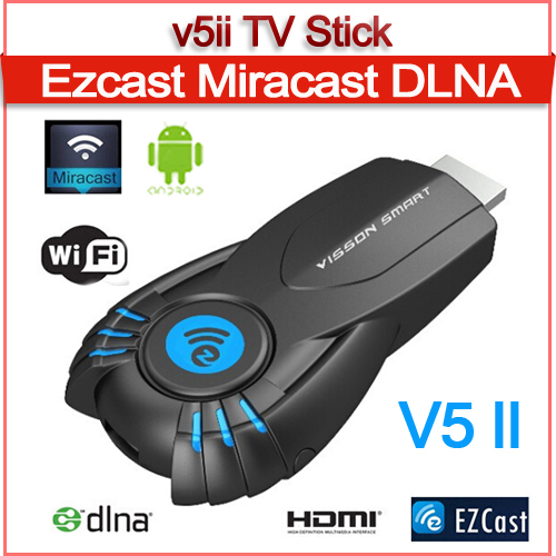 Smart v5ii ezcast smart tv stick media player with function of DLNA Miracast better than android tv box chromecast mk808 mk908(China (Mainland))