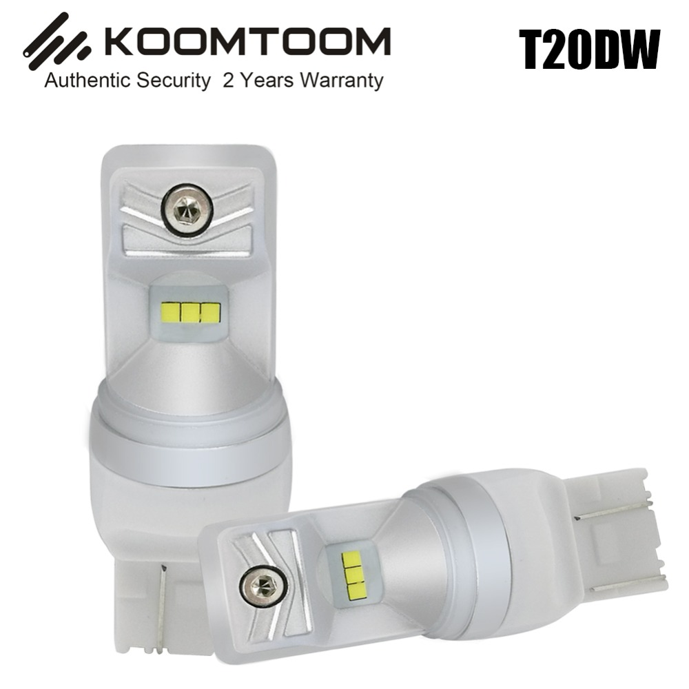 2pcs T20 DW Tail lamp Steering Lamp Car 800LM Soul CSP Chip T20 LED Bulb Fog light 6500K White Light Super Bright