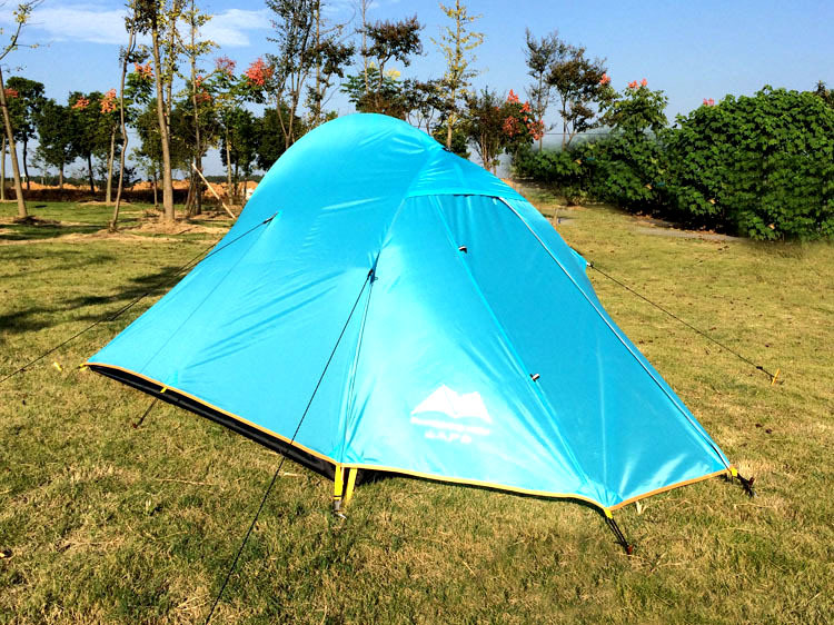 1-2 Person tourist Tent Double-layer windproof Tent Waterproof Dome Tent Camping 4 seasons Tent(China (Mainland))