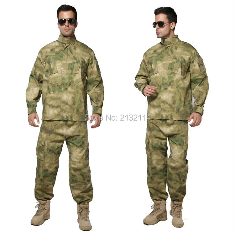Tactical ACU Style A-TACS FG Camouflage Uniform Army Combat Outdoor Activities Hunting Clothing Set