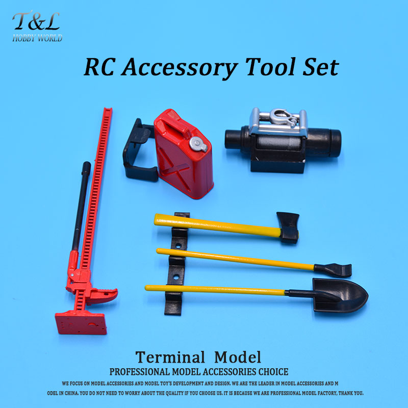 1/10 RC Rock Crawler Tools Kit RC Accessory Tool Set Mini Fuel Tank Winch Pry For D90 Axial Wraith Axial SCX10(China (Mainland))