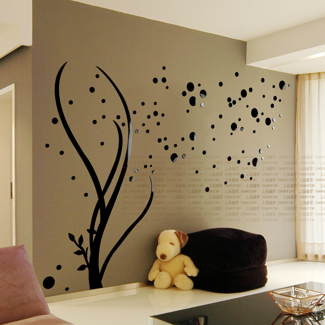 Free shipping 2015 3D Stars Crystal three-dimensional Wall Stickers Living Room TV wall Acrylic Embossed Sofa Decoration(China (Mainland))