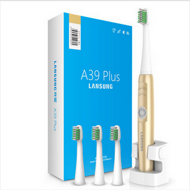 220V Gold A39Plus Wireless Charge Electric Toothbrush Ultrasonic Rotary Electric Tooth Brush Rechargeable Teeth Brush for Adult(China (Mainland))