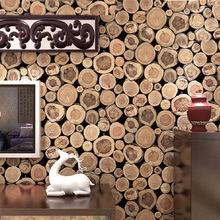 Super Thick 3D Wood Log Texture Embossed PVC Waterproof Wall Paper Roll Livingroom Desktop WallPaper Mural Papel De Parede(China (Mainland))
