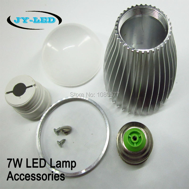 4 Set 7W Aluminum shell kit LED parts LED bulb lamp accessories E27 E14 B22 Gu10 Base plug For DIY<br><br>Aliexpress