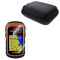 Clear LCD Screen Protector Cover Film Skin Protect Case Portable Bag for Hiking Handheld GPS eTrex