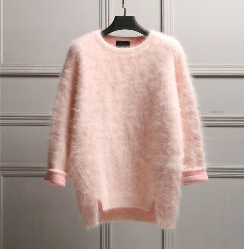 New genuine mink cashmere sweater women  cashmere pullovers knitted pure mink jacket Before long after short thickening M289