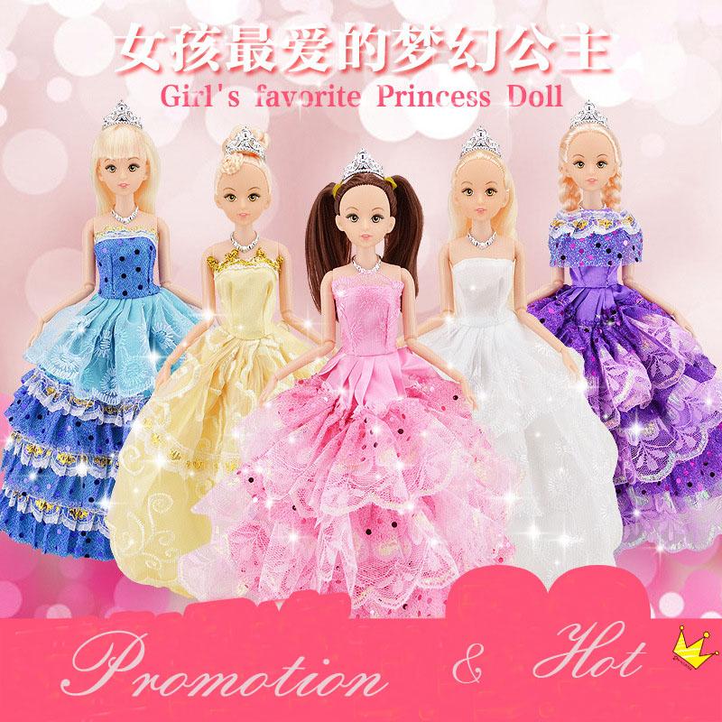 Гаджет  1pc Cute Beautiful Doll Toy Moveable Joint Body Fashion Toys High Quality Girls Plastic Classic Best Gift Figure brinquedo 30cm None Игрушки и Хобби