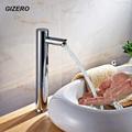 Contemporary Automatic Sensor Faucet 100 Brass DC6V AC110 220V Torneira Chrome Finish ZR1004