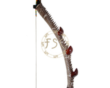 Adult hunter hunting shooting 40lbs recurve bow kirin wood glass fiber laminated Snakeskin bow and arrow