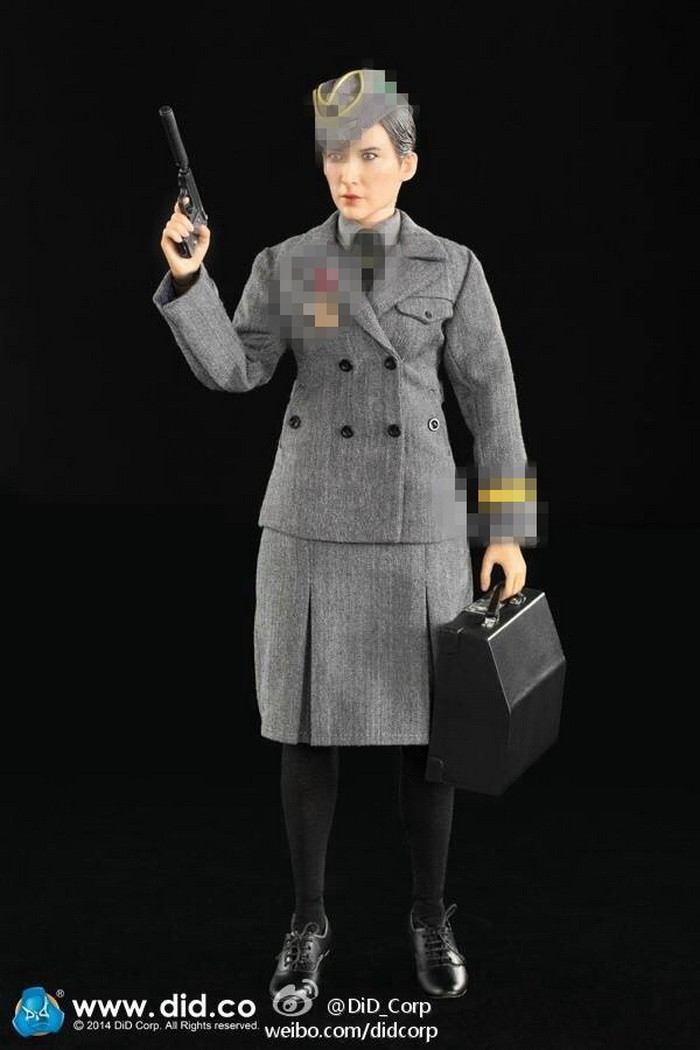 did 1  6 scale world war ii female soldiers correspondent 12inch super flexible action figure