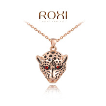 2015 Roxi new design statement necklace leopard punk rose gold plated necklaces women fashion jewlery free shipping